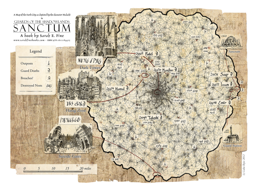 MAP OF THE DARK CITY – SARAH FINE BOOKS Dark Tower Map on
